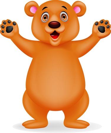 Bear cartoon waving Stock Vector - 17178544