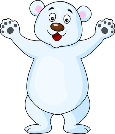 Polar bear cartoon waving Stock Vector - 17178558