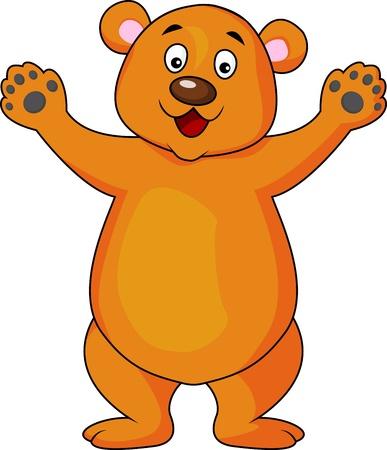 Bear cartoon waving Stock Vector - 17178539