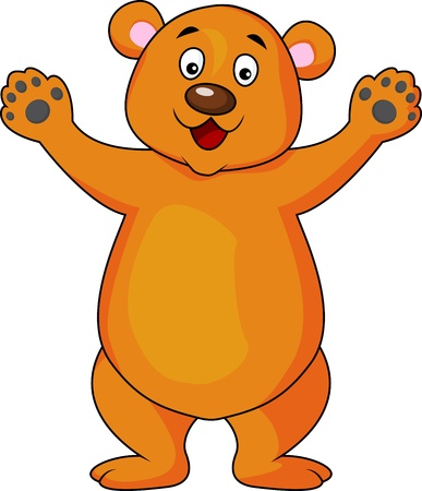 oso caricatura: Oso saludando dibujos animados