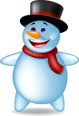 Happy snowman cartoon Stock Vector - 17177740