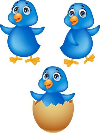Blue bird cartoon Stock Vector - 17177739