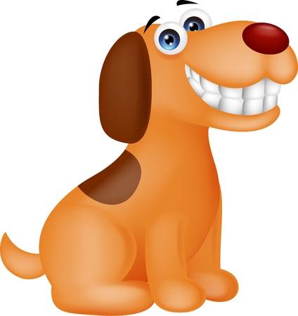 white smile: Smiling dog cartoon Illustration