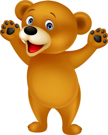 cartoon bear: Happy bear cartoon Illustration