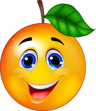 optimistic: Funny orange cartoon character