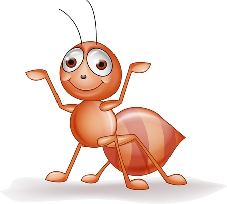 hormiga caricatura: De dibujos animados hormiga Vectores