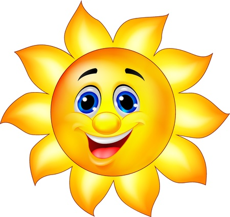 sun flare: Sun Cartoon character