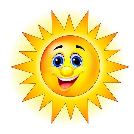 sun flares: Sun cartoon character