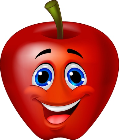 Funny apple cartoon Stock Vector - 17366636