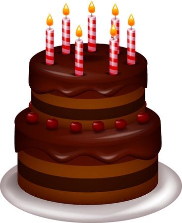 Bithday cake Vector