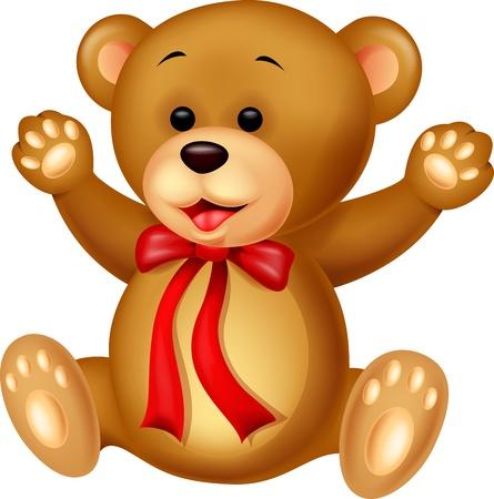 oso caricatura: Bebé divertido de la historieta del oso