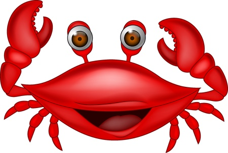 crab cartoon: Smiling crab cartoon