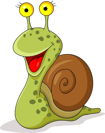 Funny snail cartoon Vector