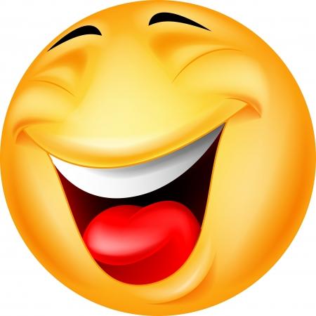 cheerful cartoon: Feliz emoticono sonriente