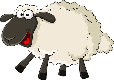 Sheep cartoon Stock Vector - 17473774