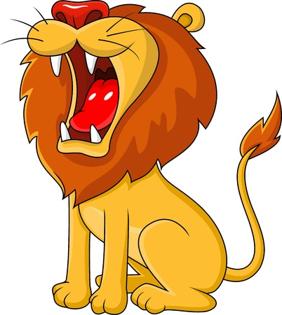 the lions: Le�n rugiente dibujos animados