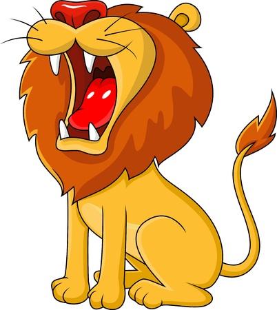 Lew ryczący cartoon