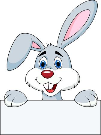 Conejo con la muestra en blanco