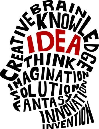 inteligencia: Idea concepto Vectores