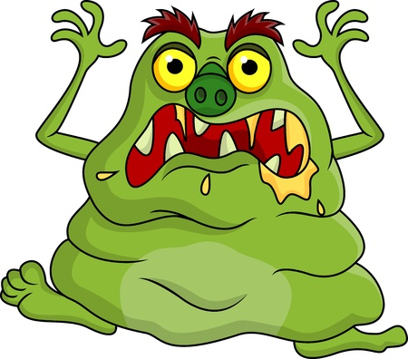 Ugly monster cartoon Stock Vector - 18047046