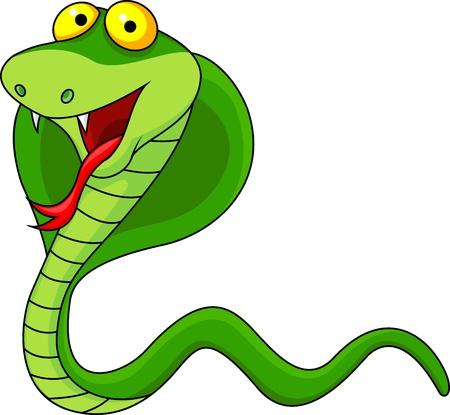 serpiente cobra: De dibujos animados de la cobra Vectores