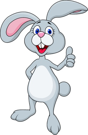 bunny rabbit: Funny bunny with thumb up