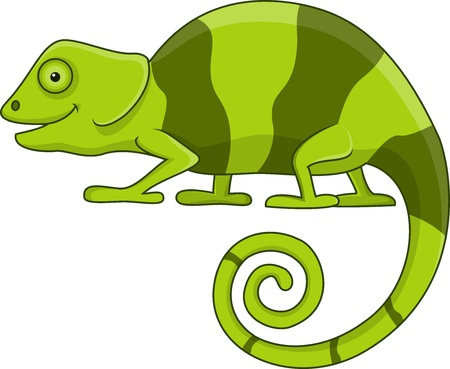 chameleon: Funny chameleon cartoon