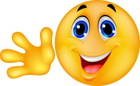 smiley: Smiley emoticon wuivende hand