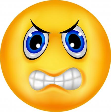 col�re: Dessin anim� �motic�ne en col�re Illustration