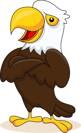 eagle feather: Eagle cartoon posing