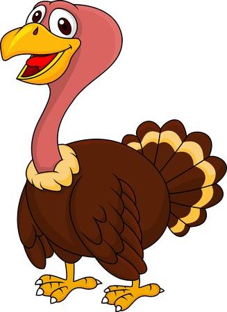 funny turkey: illustration of turkey cartoon posing