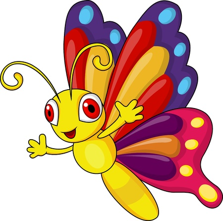 cartoon bug: Funny butterfly cartoon