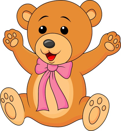 stuff toys: Cute baby bear cartoon