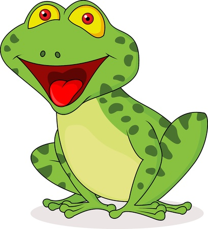 funny frog: Cute frog cartoon