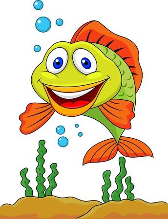 sea anemone: Cute fish cartoon