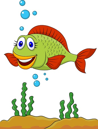 Cute fish cartoon  Stock Vector - 18586329