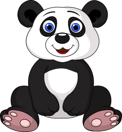 Cute panda cartoon Stock Vector - 18586390