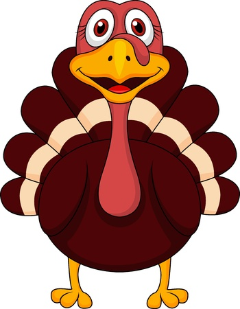 thanksgiving turkey: Cute turkey cartoon