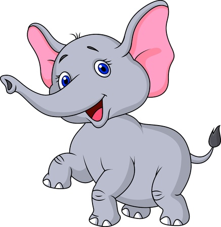Elephant cartoon dancing Vector