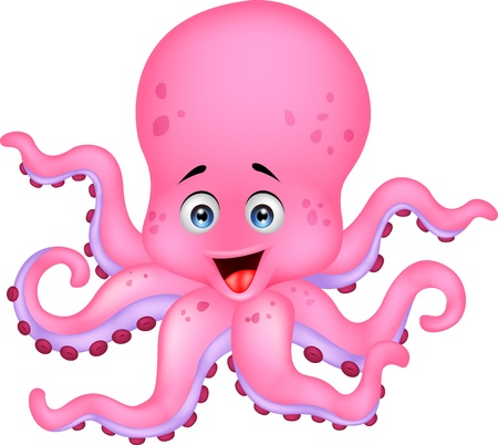 squid: Funny octopus cartoon