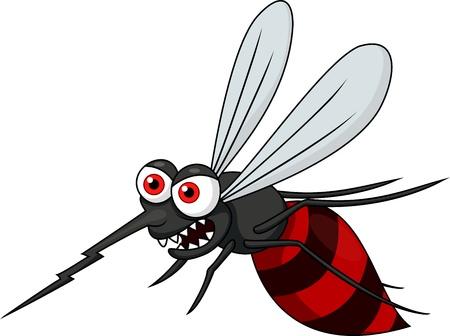 mosca caricatura: Dibujos animados enojado mosquito Vectores