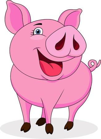 mammals: Funny pig cartoon