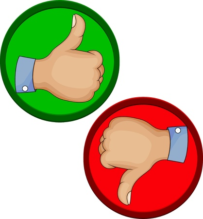 Hand gesture like unlike with thumb up icon  Vector