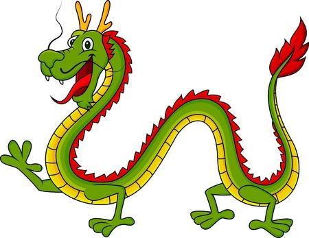 folktale: Drag�n de dibujos animados Vectores