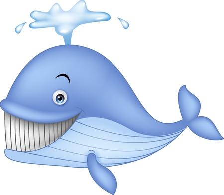 baleine bleue: Dessin anim� baleine bleue Illustration