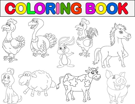 farm structures: Farm animal coloring book