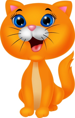 Cute cat cartoon Vector