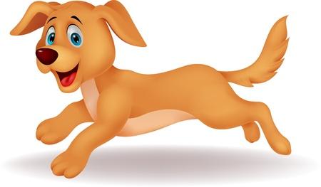 perro caricatura: Conejo de dibujos animados lindo del funcionamiento