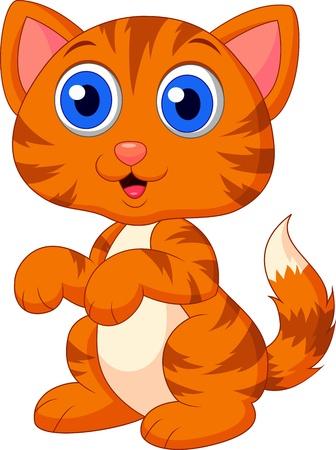 pussy hair: Cute cat cartoon