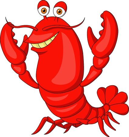 crayfish: Cute lobster cartoon  Illustration